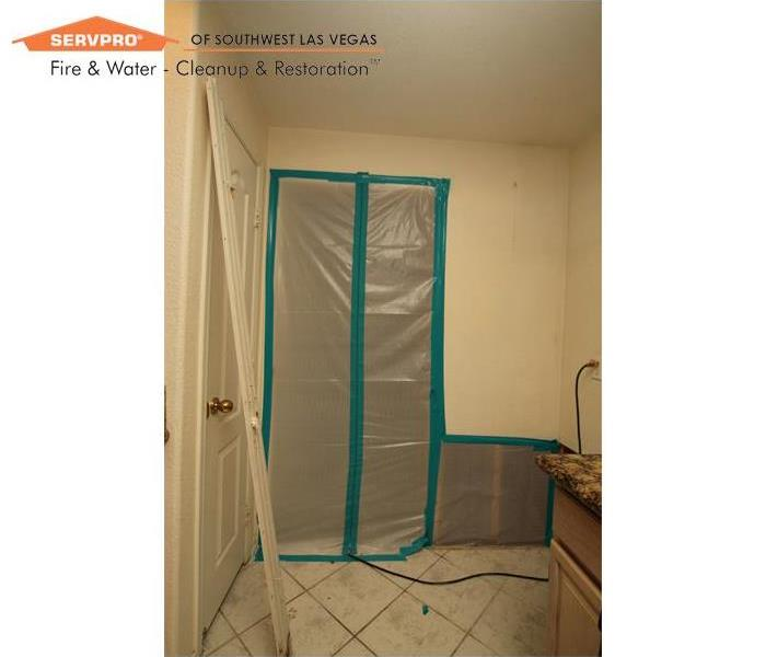 Mold Remediation Mold remediation, containment set-up Las Vegas