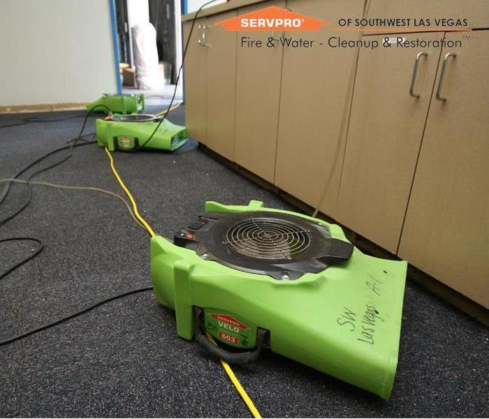 Commercial Commercial Water Damage, equipment for dry out